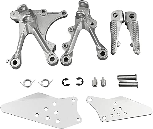 2021 Mallofusa Aluminum Motorcycle Front Foot Pegs Footrests Compatible for KAWASAKI NINJA discount ZX6R 2005 2006 2007 wholesale 2008 online sale