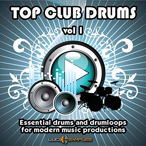 Top Club Drums Vol 1 - 2888 Drums and Drum Loops, Drum Sample Pack | WAV Files | DVD non Box