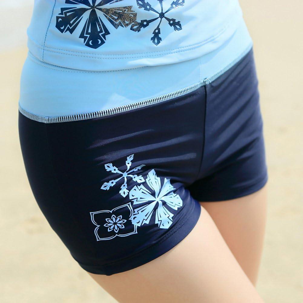ilishop Juniors Two Piece Tankini Bathing Suits Boy Leg Swimwear
