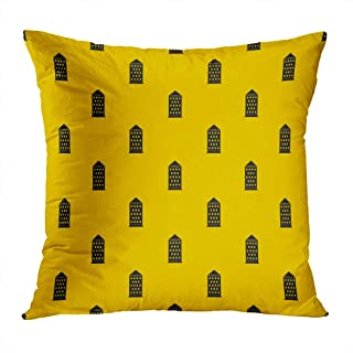 Houlor Throw Pillow Cover Print Ancient Building Repeat Ancient Antique Architecture Black Pillowcase Living Room Bedroom Dorm Car Hidden Zipper Home Decor Home Style Cushion Case 18 X 18 Inches