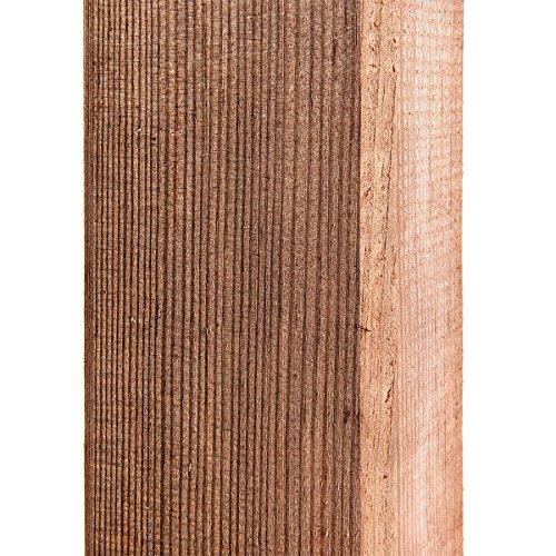 HaGa Pfosten - Zaunpfahl für Weidezaun, Gartentor & vieles mehr - Kantholz - Aus Kiefer - 7cm x 7cm x 100cm - 1 Stück