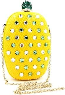 Shiratori Women Acrylic Pineapple-shaped Evening Bags Purses Clutch Vintage Banquet Handbag