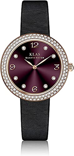 lowest KLAS Three-Hand wholesale Stainless Steel Watch Leather Band Casual wholesale Quartz Women Wristwatches online
