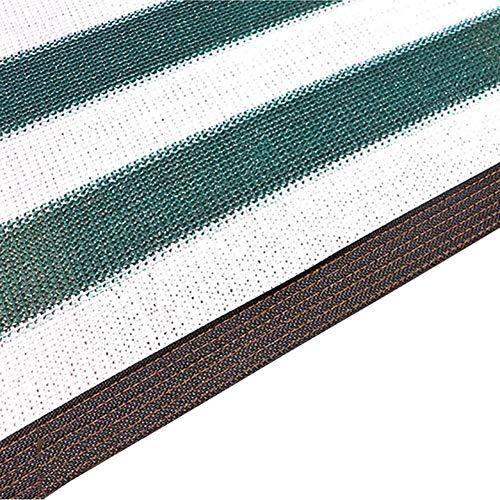 Mirui Schattennetz, grün-weiß, für den Außenbereich, Sonnenschutz, Sichtschutz, mit Ösen, für Terrasse, Markise, Fenster, Carport, Teich (Größe: 2 m x 6 m), 3m x 5m