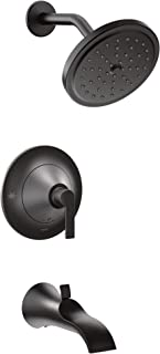 Moen TS2203EPBL Doux Posi-Temp Pressure Balancing Tub and Eco-Performance Shower Trim Kit, Valve Required, Matte Black