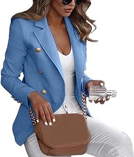 Cardigan Donna Cappotto Blazer Formale A Maniche Lunghe da Donna Giacche Cardigan Lavoro D'Ufficio Vestito da Donna con In...
