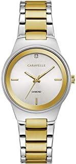 Caravelle Women's Quartz Watch with Stainless-Steel Strap, Two Tone, 14 (Model: 45P108)