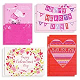 Hallmark Valentines Day Cards Assortment, Happy Hearts (8 Valentine Cards with Envelopes)