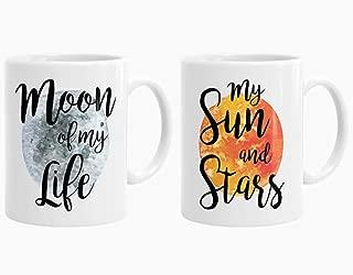 Game Of Thrones Mug Set of 2, Khaleesi and Drogo Mugs, Moon of my Life Cup , High Gloss Coffee Mug 11oz