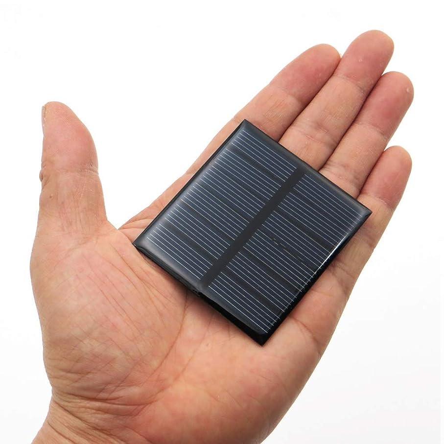 完璧な失業守銭奴ソーラーパネル 防水小型ソーラーパネルセルDIY玩具用エポキシ多結晶シリコンバッテリー電源充電器モジュール YXJJP