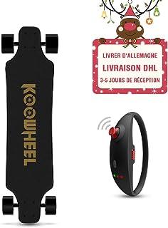 56d5475f6f7c6 KOOWHEEL Skateboard Électrique kooboard, Cool Bracelet de télécommande,1 Sac,  2 Roues supplémentaire
