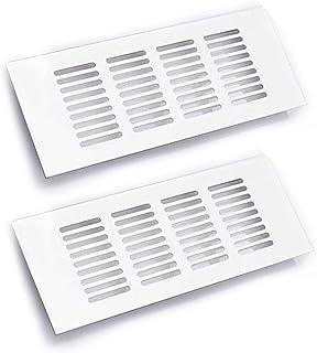 2 stycken vita ventilskydd, 30 x 8 cm/11,8 x 3,15 tum, inre ventilsskydd av aluminiumlegering, ventilationsskydd, för vent...