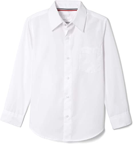 French Toast Boys' Long Sleeve Classic Dress Shirt (Standard & Husky)