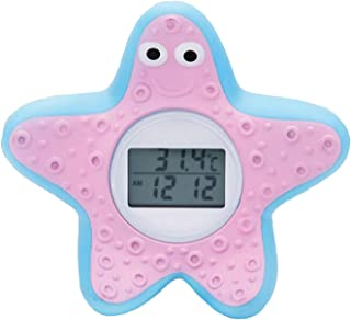 DongRong Baby Bath and Room Thermometer, The Infant Baby Bath Floating Toy Safety Temperature Thermometer. … (Starfish)