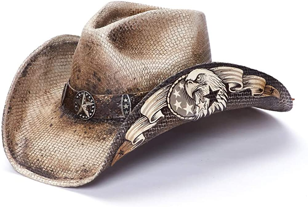 Stampede Hats Men's Gold Eagle Star and Limited time cheap sale Western with Hat Mail order