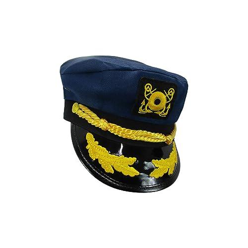 Jacobson Hat Company Yacht Skipper Hat Ship Captain Cap Costume Sailor Boat  Ship Captains bdf78356ea50