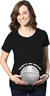 Crazy Dog Tshirts - Maternity Thats No Moon Cute T Shirt Funny Pregnancy Announcement Baby Bump tee - Camiseta De Maternidad