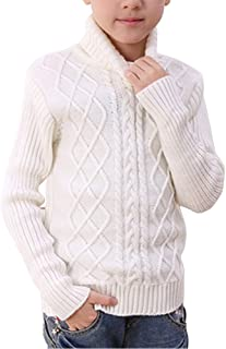 Boys' Girls' Long Sleeve Cable Knitted Turtleneck Pullover Sweaters