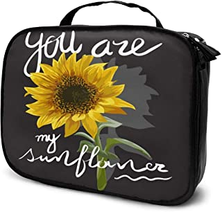 Cosmetic Bag You Are My Sunflower Travel Makeup Bag Anti-wrinkle Cosmetic Case Multi-functional Storage Bag Large Capacity Makeup Brush Bags Travel Kit Organizer Women's Travel Bags