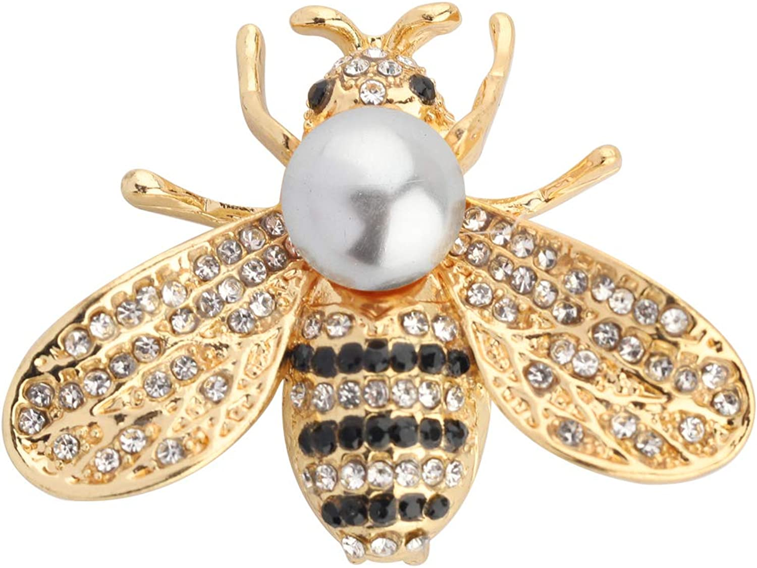 Rhinestone Pearl Bee 2021 new Excellent Brooch Pins Honey Crys Fashion Brooches