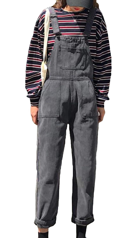 (ニカ)レディース サロペット デニム ワイドパンツ レディース 秋 冬 春 ロングパンツ 大きいサイズ サロペット