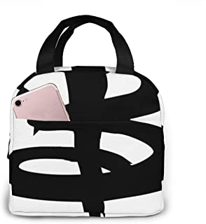 Buffy The Vampire Slayer 'B' Portable insulated lunch bag Big Capacity Lunch Cooler Tote Bag for for Work School Travel Lunch Box with Front Pocket