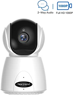 IP Home Security Camera, NexTrend 1080P Pan/Tilt/Zoom WiFi Surveillance Camera with Night Vision, 2 Way Audio, Motion Detection, Cloud Storage, Indoor Dome Camera with APP for Pet/Elder/Nanny