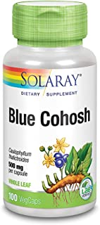 Solaray Blue Cohosh 500 mg | Traditional Menstrual Support for Women | Non-GMO, Vegan & Lab Verified | 100 VegCaps