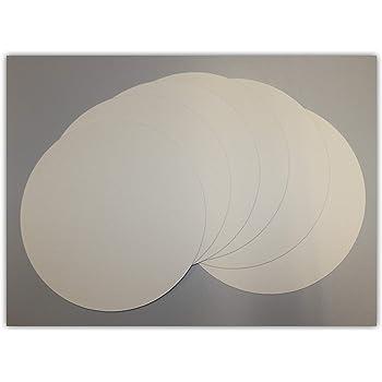 Pappe rund /Ø 30cm wei/ß mit glattem Rand Tortenplatten kompostierbar 100 St/ück Tortenuntersetzer