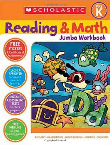 Scholastic Pre-K Reading & Math Jumbo Workbook