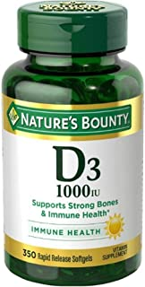 Nature's Bounty High Potency D3-1000IU Vitamin Supplement Softgels - 350 CT by Nature's Bounty