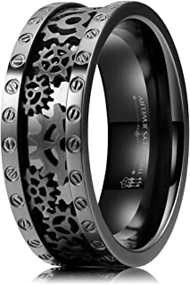 steampunk mens wedding bands