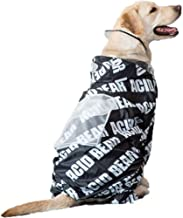 Waterproof Raincoat Dog Clothes, Hooded Rainwear Waterproof Cloak All-Inclusive Hooded Waterproof Dog Clothes Poncho Suitable for Medium and Large Dogs