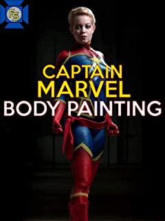 Captain Marvel Body Painting