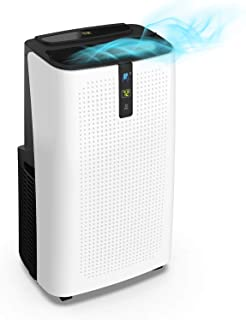 JHS 14,000 BTU Portable Air Conditioner, 3-in-1 Floor AC Unit with 3 Fan Speeds, Remote Control and Digital LED Display, Cover up to 500 Sq. Ft.