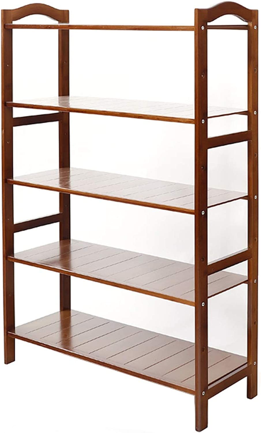 DR shoes Rack Bamboo shoes Rack - 3 4 5 Layer Arc Handle Simple Inssizetion Environmental Predection Material Dust Simple shoes Rack Storage Shelf (Size   69x26x102cm)