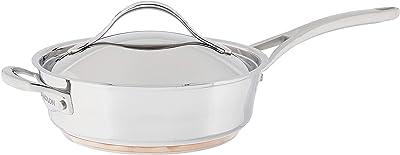 Anolon Novelle stainless Steel Saute Pan - Best value Stainless Steel Saute Pan