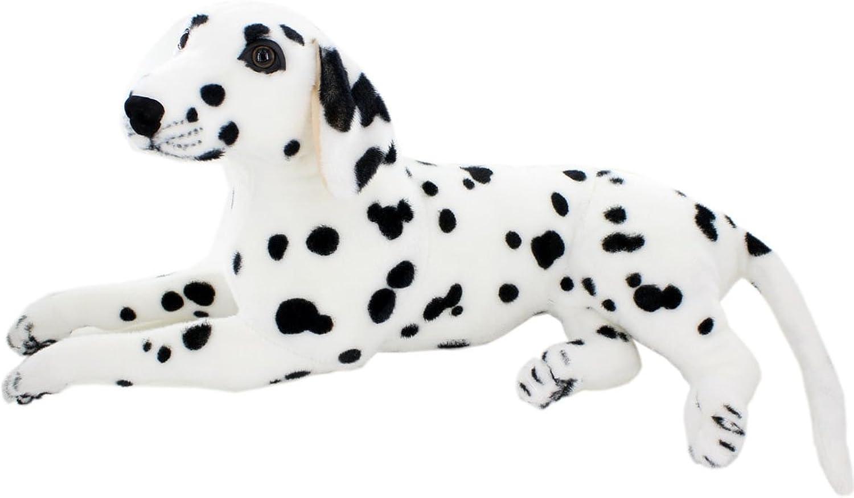 Jesonn Big Realistic Stuffed Animals Dog Dalmatian Plush Toys,23.6  or 60CM,1PC