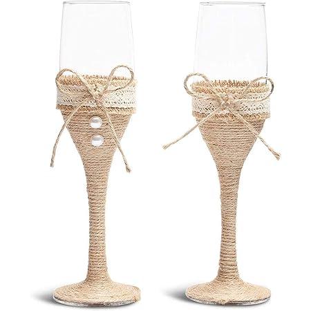 Sunflower Wedding Set  Champagne Glasses Cake Serving Cutter Burlap Rustic Decoration Flutes Unity