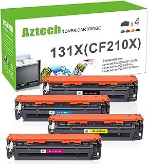 Aztech Compatible Toner Cartridge Replacement for HP 131A CF210A CF210X Laserjet Pro 200 Color MFP M276nw M251nw MF8280Cw M276n M251n 131X CF211A CF212A CF213A (Black/Cyan/Yellow/Magenta, 4-Pack)