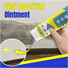 Iusun Wall Repair Cream+Scraper DIY Surface Crack Repairing Ointment Remove Wall Graffiti Waterproof Formaldehyde Free White Latex Universal Magic Wall Mending (White)
