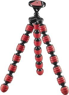 Cullmann Alpha 380 Mobiel, flexibel ministatief met smartphonehouder, buigbare poten, rood, max. belasting 1,5 kg, gewicht...