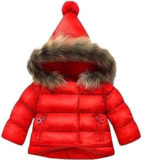 Danlaru Baby Girls Boys Winter Warm Jacket Hooded Snowsuit Windproof Coat Outerwear Soft Fur Hoodies FBA