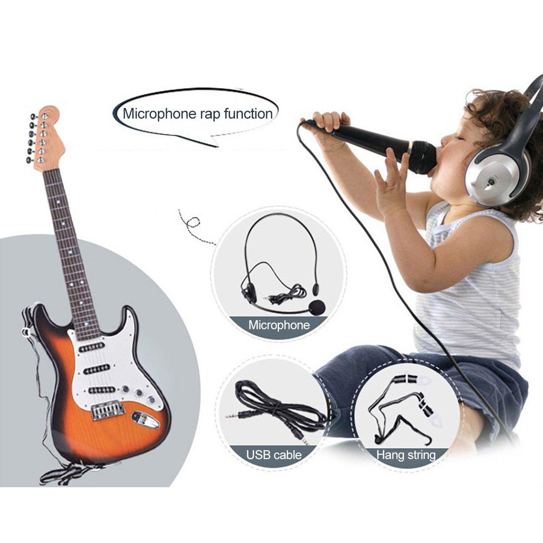 YVSoo Guitarra Eléctrica para Niños, 6 Cuerdas Guitarra Juguete ...