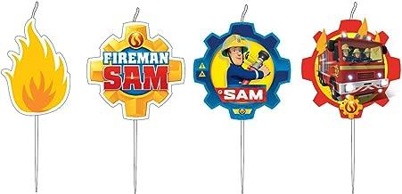 Amscan Fireman Sam Birthday Cake Candle Set x 4