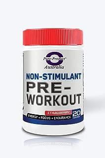 Pure Product Australia Non Stimulant Pre Workout Powder, Strawberry 200 grams