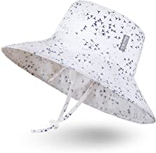 Sombrero de Sol para Bebé Niña Niño Infantil Niños Pequeños Unisexo Ajustable Sombrero Bob Protección Solar UPF 50