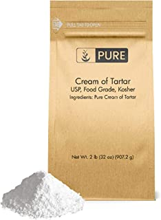 Cream of Tartar (2 lb.) by Pure Organic Ingredients, Eco-Friendly Packaging, All-Natural, Non-GMO, Kosher, for Baking, Cleaning, DIY Bathbombs, More