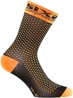 SIXS, SIXS - Calcetines Comp Sho, Naranja Fluo, talla 43/46