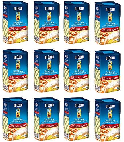 12x Farina De Cecco di grano tenero Mehl